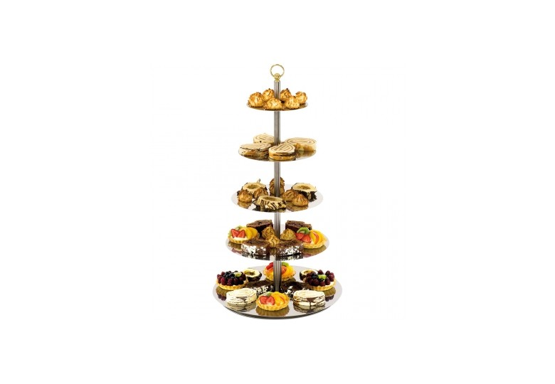 Glass rotating cake stand d 300 mm