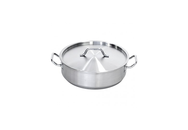 Satin casserole pot with lid size 36x11 cm 11,2 l