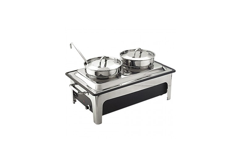 Сhafing dish with 2 soup kettles 2x4 l