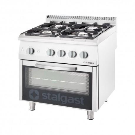Плита газовая (4 конфорки) с газовой духовкой (20,5 + 6 кВт, G 20) STALGAST 9710110