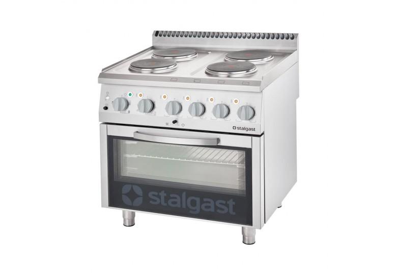 Плита электрическая (4 конфорки) с электрической духовкой (10,4 + 7 кВт) STALGAST 9715000