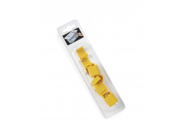 Lid clips (12 pcs., yellow) HENDI 880685
