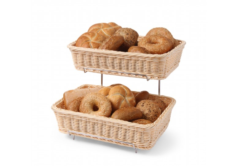Bread basket display GN 1/2 (set of 2 pcs.) 360 x 280 x 90/315 mm HENDI 561201
