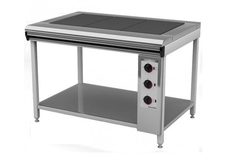 Electric range, energy saving ПЕ-3 Ч еconomy, cast iron burners, without oven, polymer coating