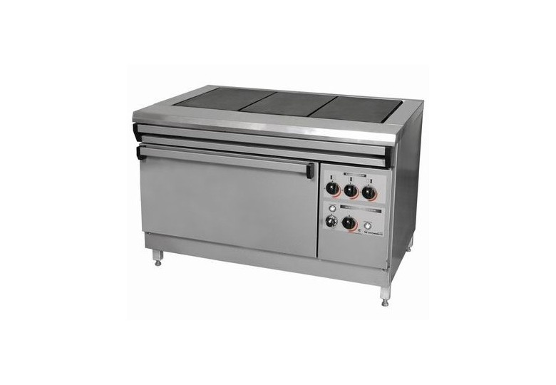 Electric range, energy saving ПЕ-2 Ч еconomy, cast iron burners, without oven, polymer coating