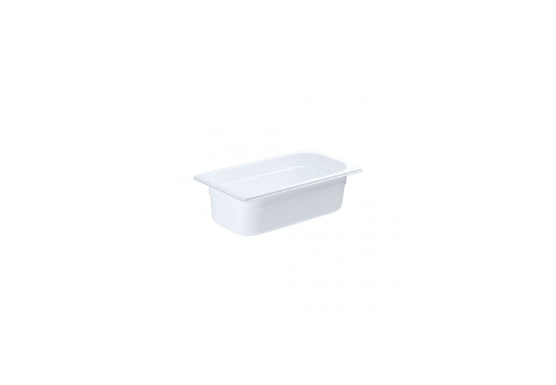 GN 1/3 100 mm white polycarbonate container