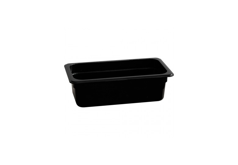 Рrofessional polycarbonate black GN 1/3 100 container