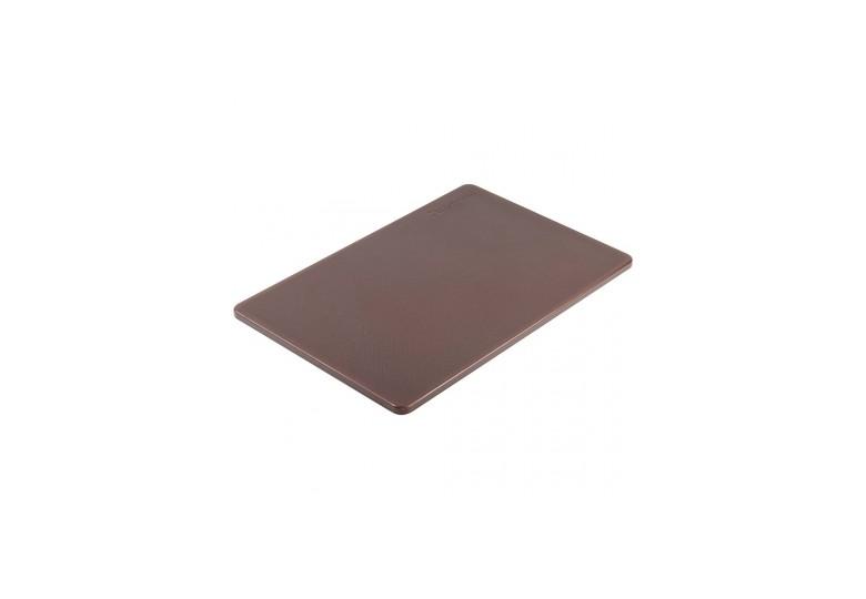 Пластиковая доска 45*30 см. коричневая